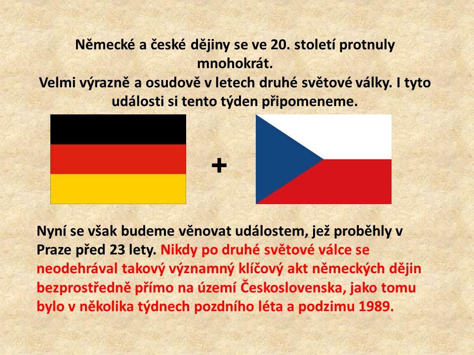 Německé a české dějiny se ve 20.století protnuly mnohokrát.