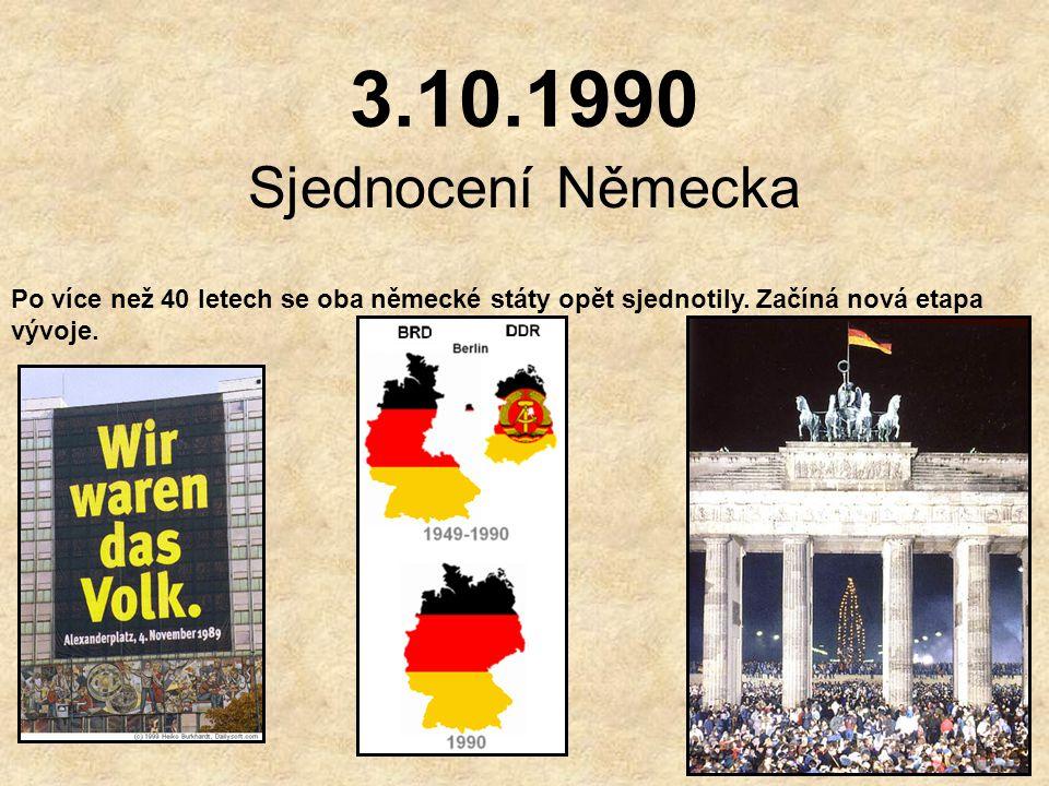 1989 Dochází k rozkladu komunistických režimů ve východní Evropě, také v NDR se konají demonstrace za demokracii. 9.listopadu 1989 večer vysílal berlí