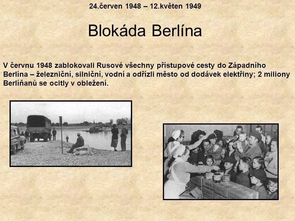 1945 Spolupráci mezi vítězi ale záhy vystřídaly neshody a rivalita. Berlín se stal v tomto soupeření klíčovým místem. Problém Berlína byl v tom, že le