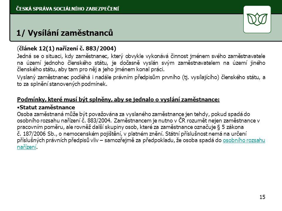 (článek 12(1) nařízení č.