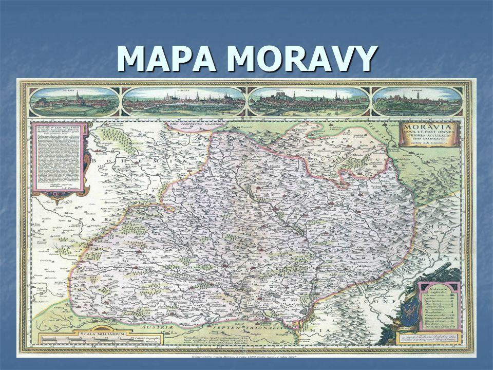 MAPA MORAVY