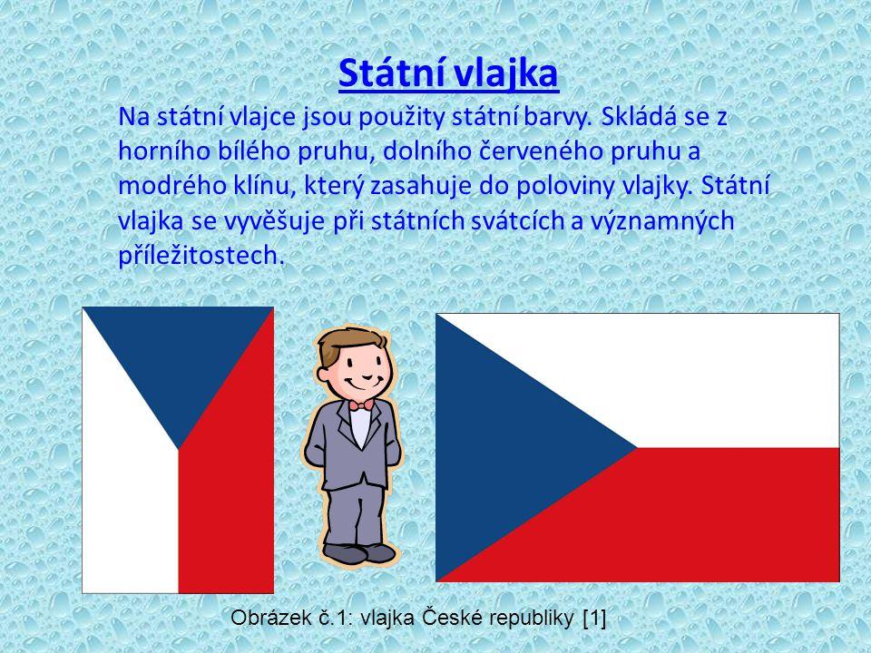 Státní vlajka Na státní vlajce jsou použity státní barvy.