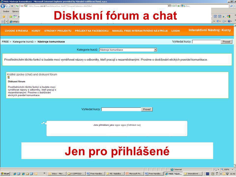 Diskusní fórum a chat Jen pro přihlášené