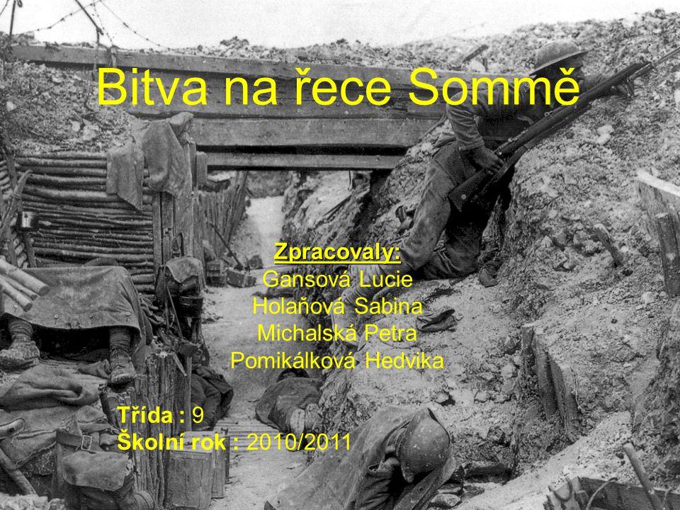 Kdy.Kde. Kdo. •Kdy se bitva odehrála. 1.7. - 18.11.1916 •Kde se bitva odehrála.