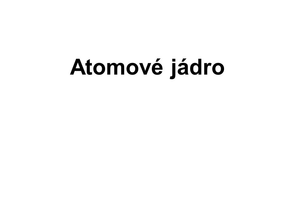 Atomové jádro