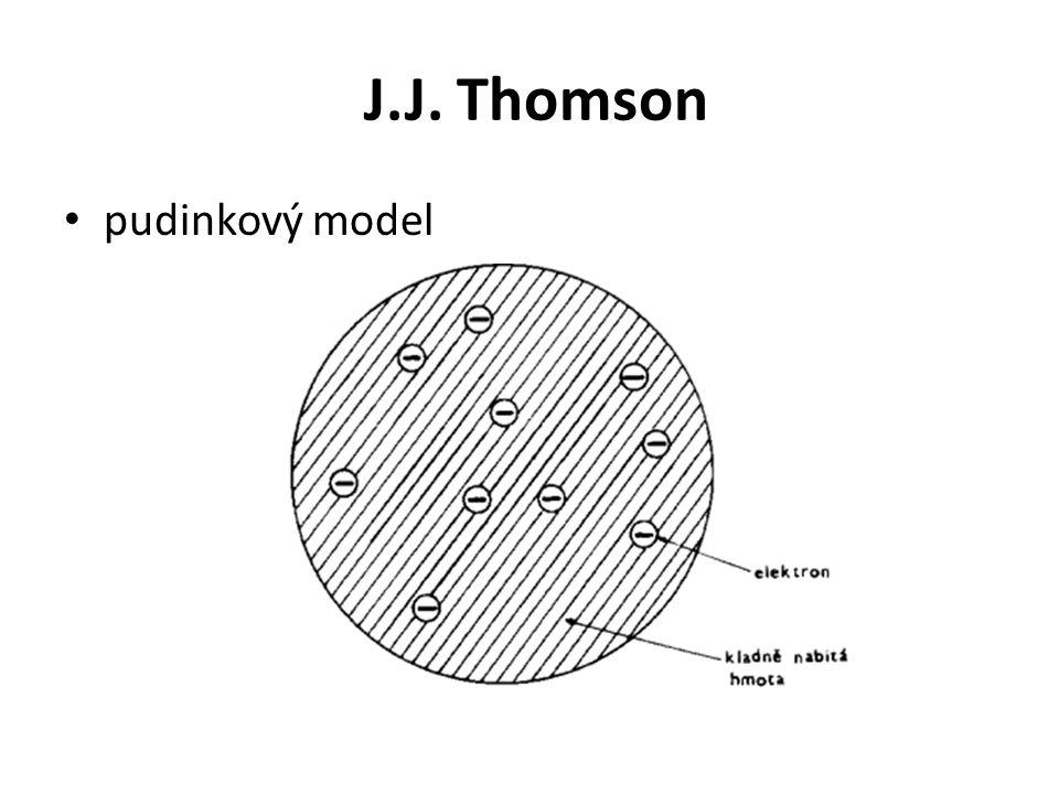 J.J. Thomson • pudinkový model