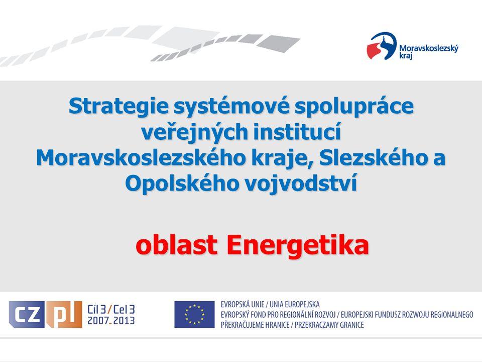 Evropské seskupení pro územní spolupráci Strategie systémové spolupráce veřejných institucí Moravskoslezského kraje, Slezského a Opolského vojvodství oblast Energetika