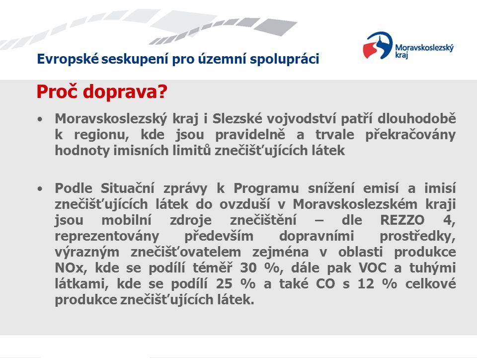 Evropské seskupení pro územní spolupráci Proč právě CNG.