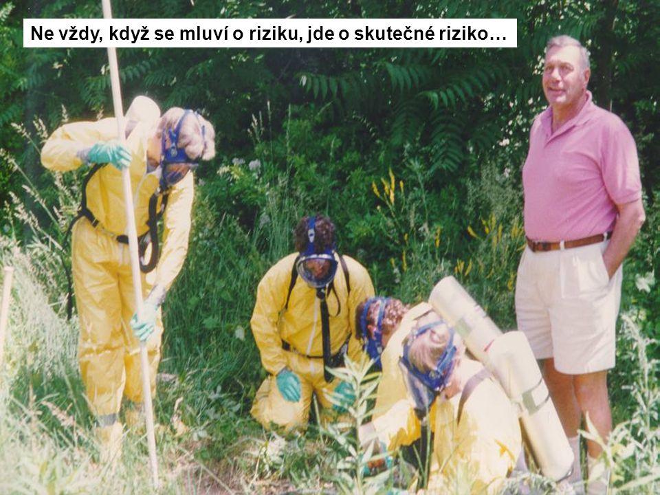 Ne vždy, když se mluví o riziku, jde o skutečné riziko…
