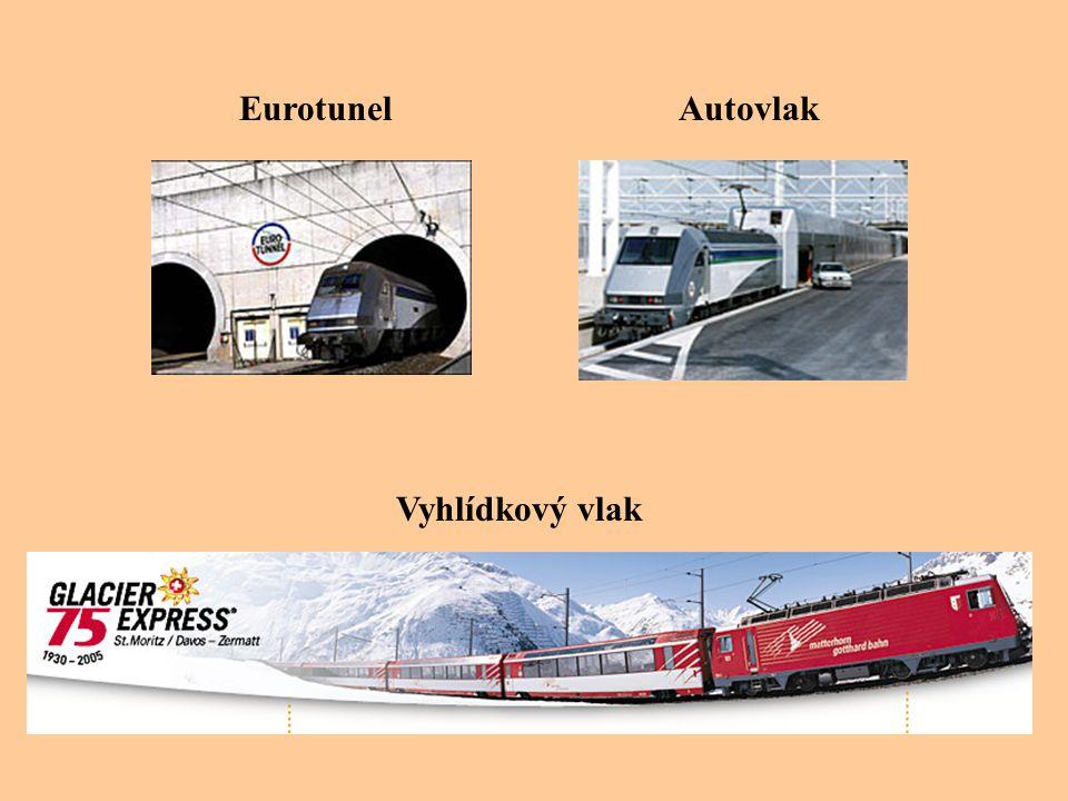 Eurotunel Vyhlídkový vlak Autovlak