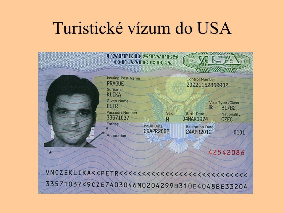 Otázky a úkoly 1.Na stránkách Ministerstva zahraničních věcí se informujte o aktuální vízové povinnosti pro občany ČR do Evropských i často navštěvovaných mimoevropských zemí.
