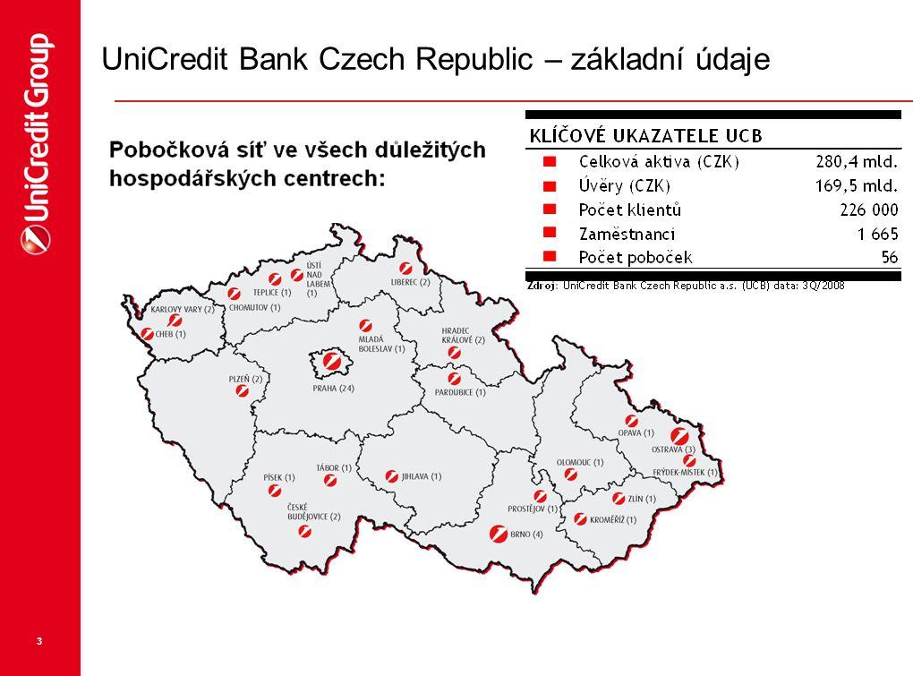 3 UniCredit Bank Czech Republic – základní údaje
