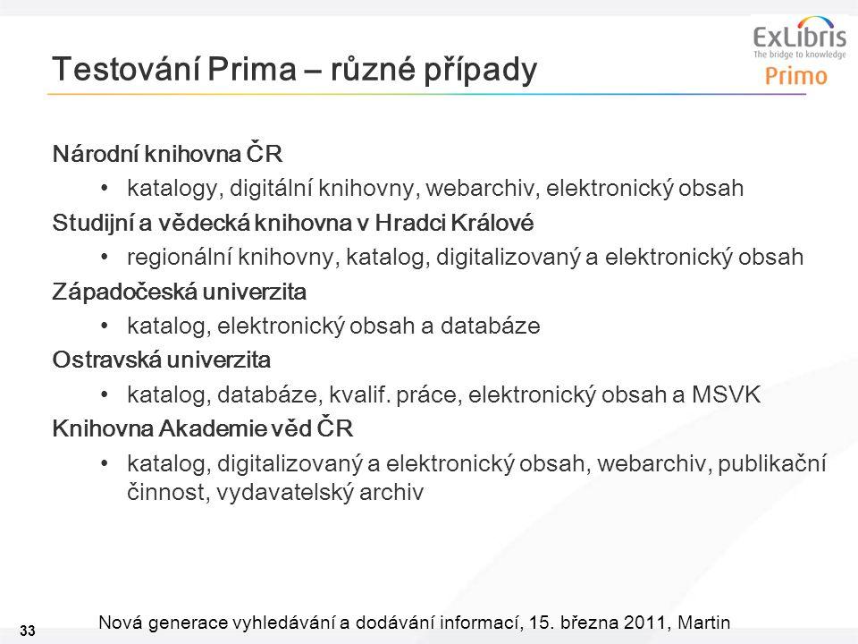 33 Nová generace vyhledávání a dodávání informací, 15.