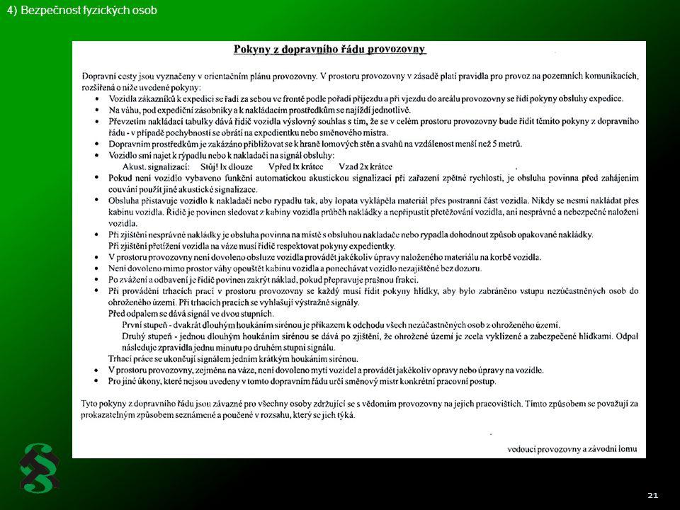 21 4) Bezpečnost fyzických osob