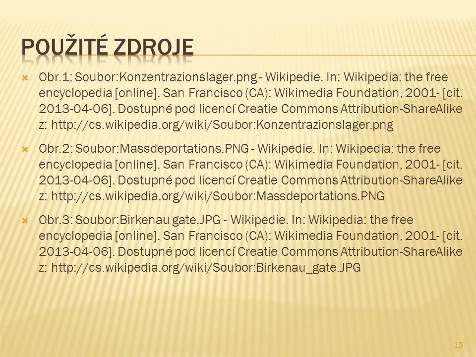  Obr.1: Soubor:Konzentrazionslager.png - Wikipedie. In: Wikipedia: the free encyclopedia [online]. San Francisco (CA): Wikimedia Foundation, 2001- [c