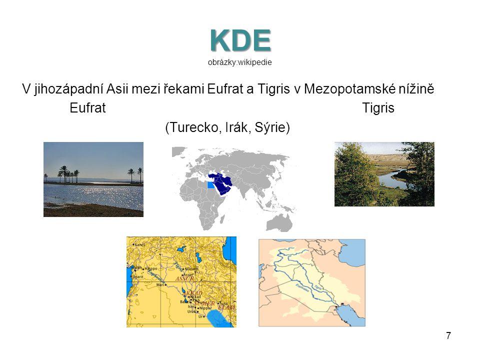 KDY KDE A PROČ VZNIKAJÍ PRVNÍ STÁTY KDY: Před pěti tisíci lety KDE: •V jihozápadní Asii mezi řekami Eufrat a Tigris v Mezopotamské nížině •Na severu A