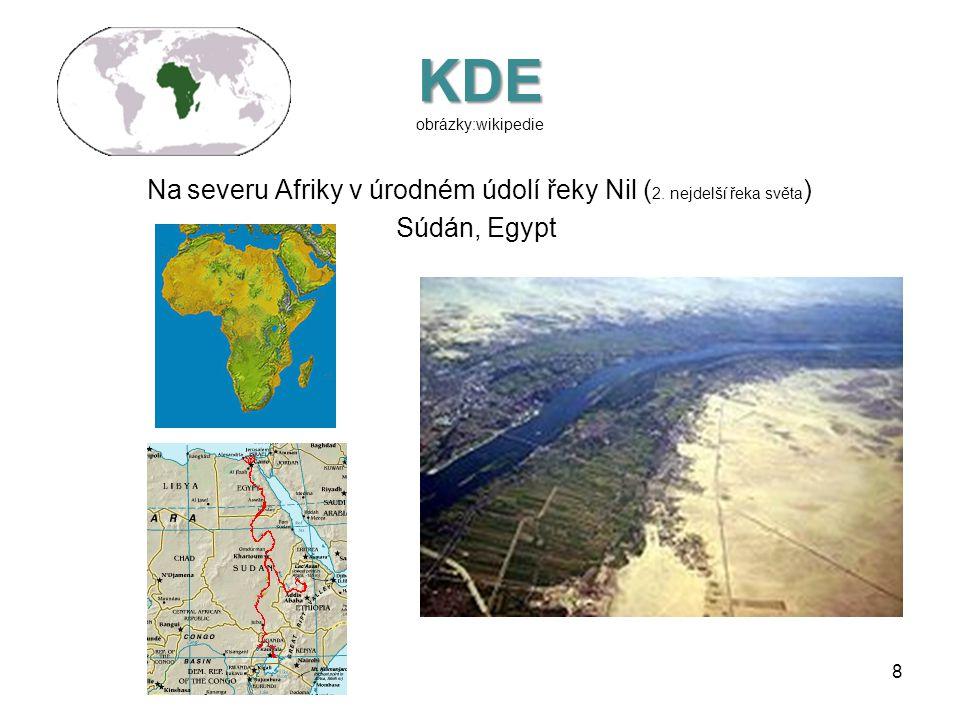 KDE KDE obrázky:wikipedie V jihozápadní Asii mezi řekami Eufrat a Tigris v Mezopotamské nížině Eufrat Tigris (Turecko, Irák, Sýrie) 7