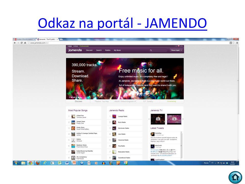 Odkaz na portál - JAMENDO