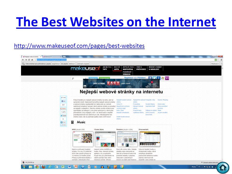The Best Websites on the Internet http://www.makeuseof.com/pages/best-websites