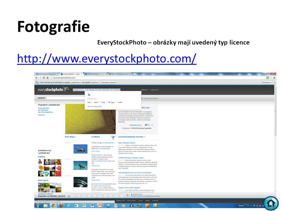 Fotografie http://www.everystockphoto.com/ EveryStockPhoto – obrázky mají uvedený typ licence