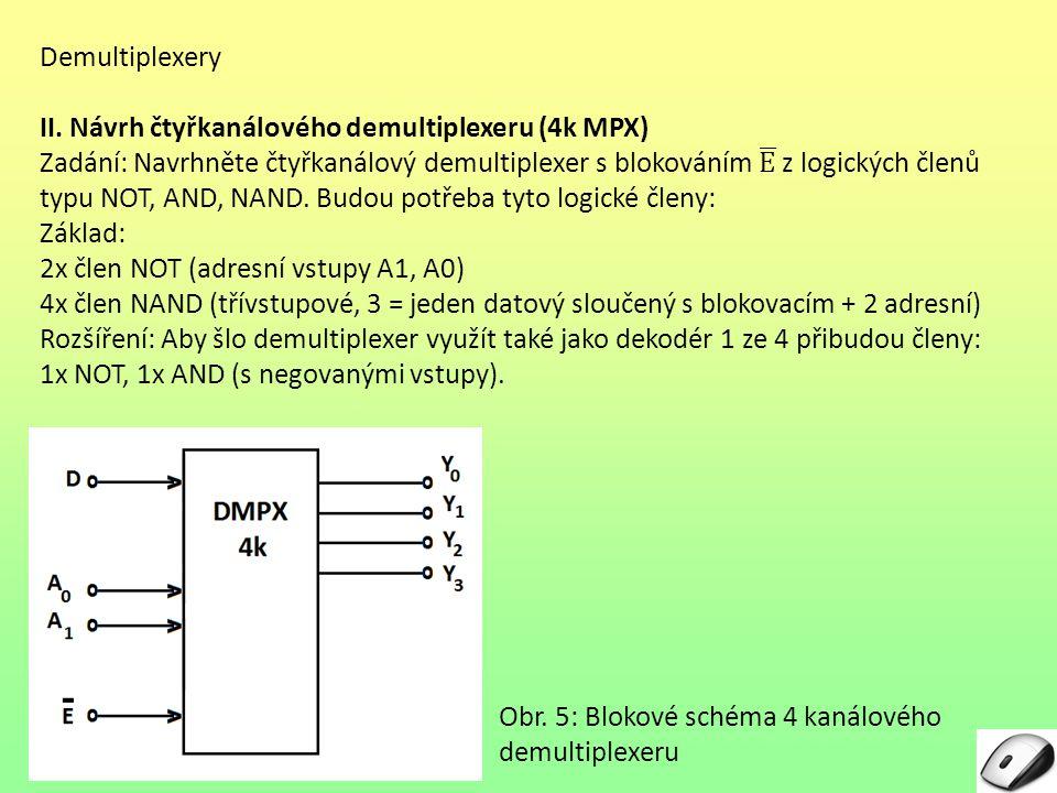 Obr. 5: Blokové schéma 4 kanálového demultiplexeru