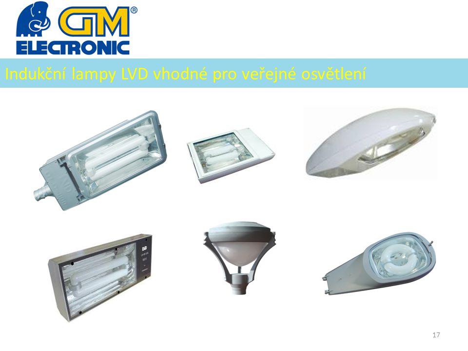 Indukční lampy LVD vhodné pro veřejné osvětlení 17