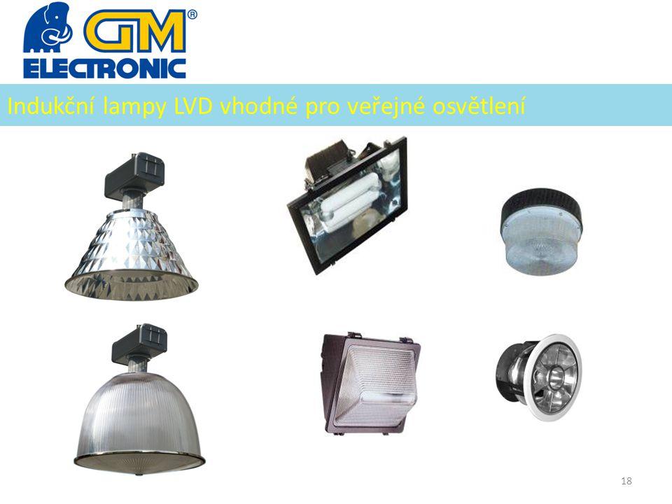 Indukční lampy LVD vhodné pro veřejné osvětlení 18