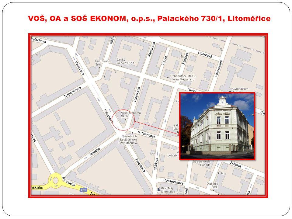 VOŠ, OA a SOŠ EKONOM, o.p.s., Palackého 730/1, Litoměřice