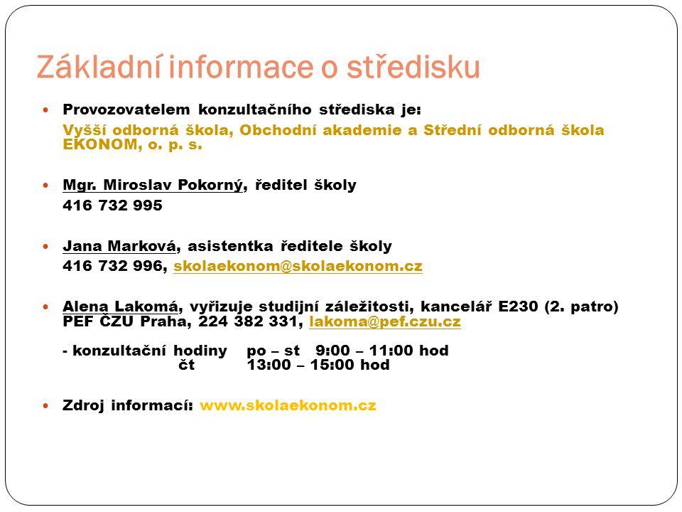Pro studenty, kteří nebyli na slavnostním zahájení studií v Praze  Student se přihlásí na moodle.czu.cz (přihlašovací údaje zjistí v přijímacím dopise případně na webu prubeh.prijimacky.czu.cz - POZOR před prvním přihlášením musí student provést změnu hesla na portálu: hroch.czu.cz)  Po přihlášení zvolí PROVOZNĚ EKONOMICKÁ FAKULTA a následně kurz ÚVOD DO STUDIA PRO KONZULTAČNÍ STŘEDISKA (UDSKS).