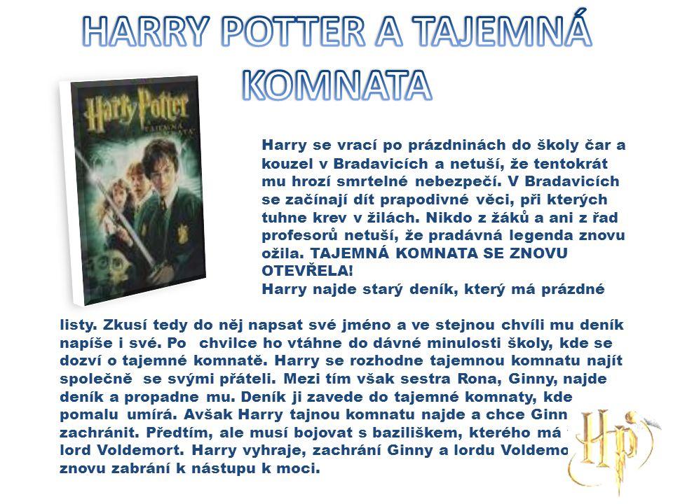 Harry se vrací po prázdninách do školy čar a kouzel v Bradavicích a netuší, že tentokrát mu hrozí smrtelné nebezpečí. V Bradavicích se začínají dít pr
