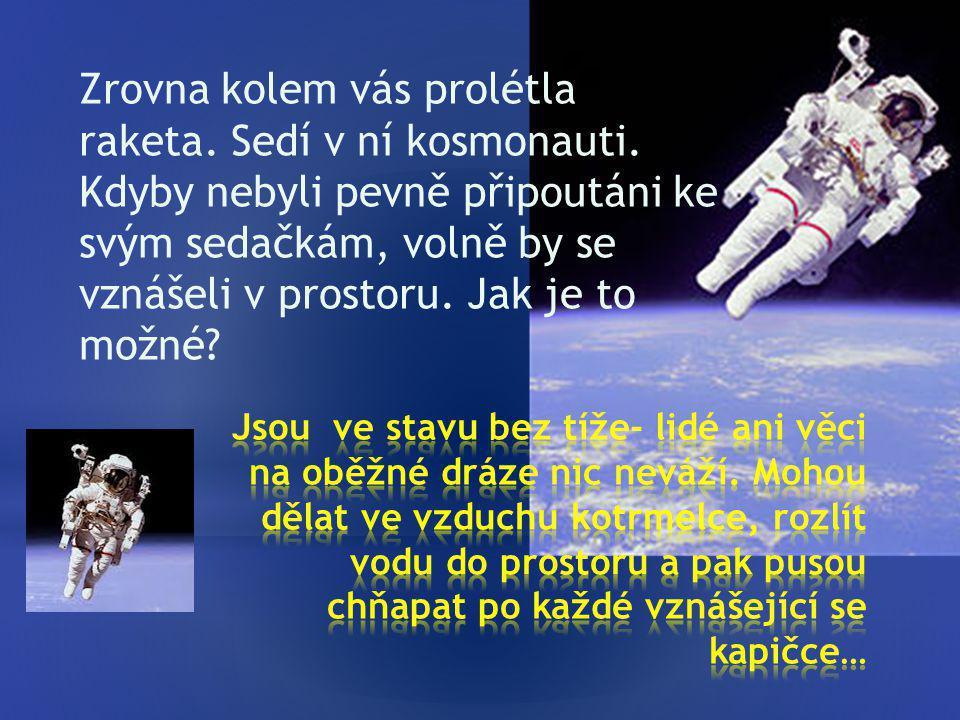Zrovna kolem vás prolétla raketa.Sedí v ní kosmonauti.