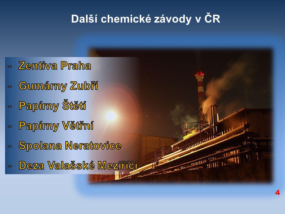 4 Další chemické závody v ČR