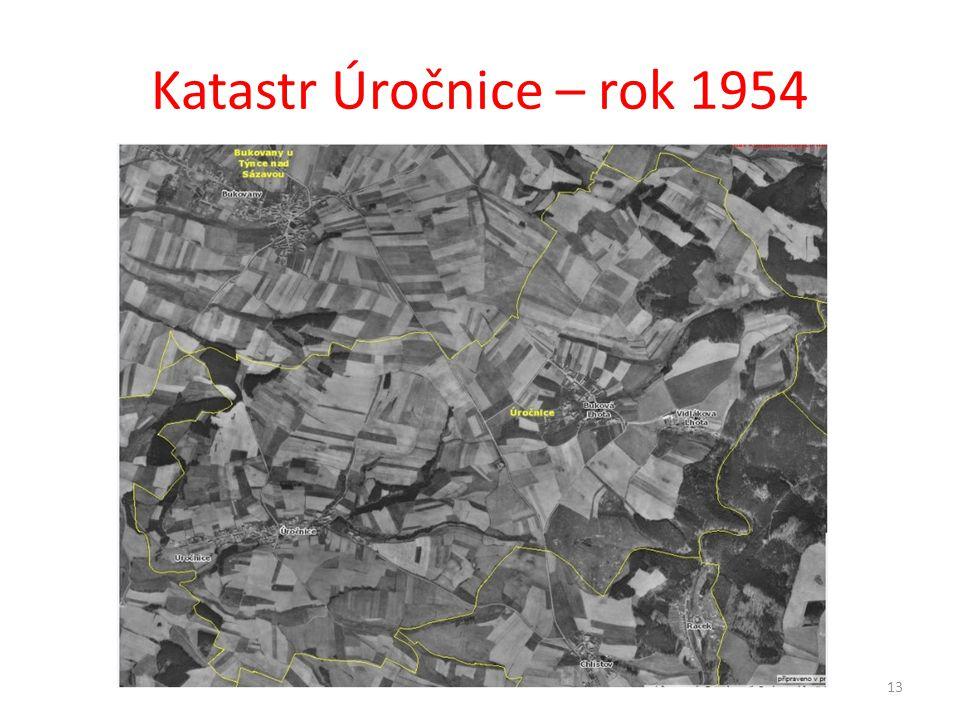 Katastr Úročnice – rok 1954 13