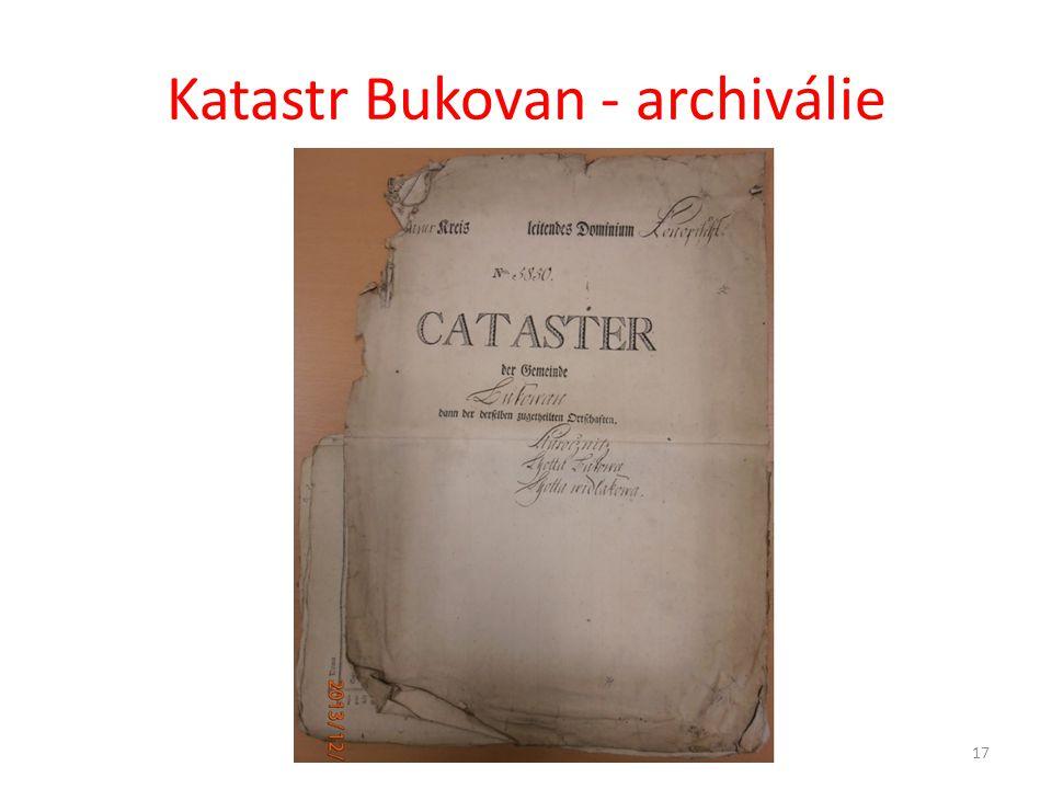 Katastr Bukovan - archiválie 17