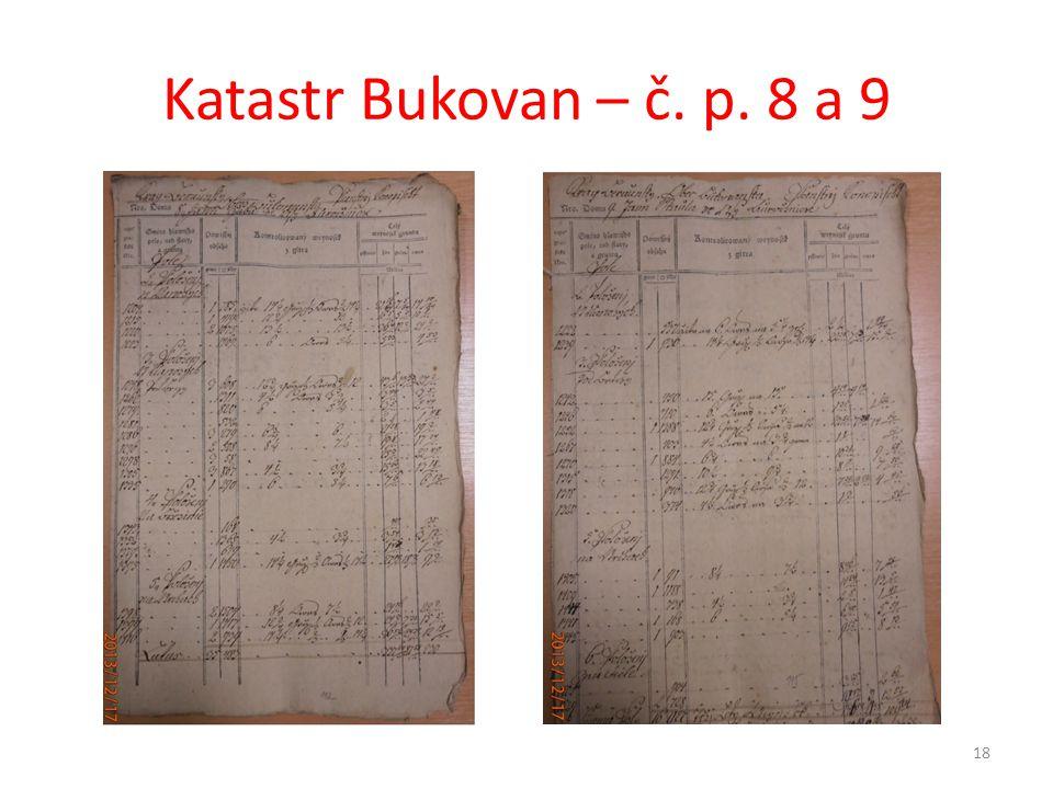 Katastr Bukovan – č. p. 8 a 9 18