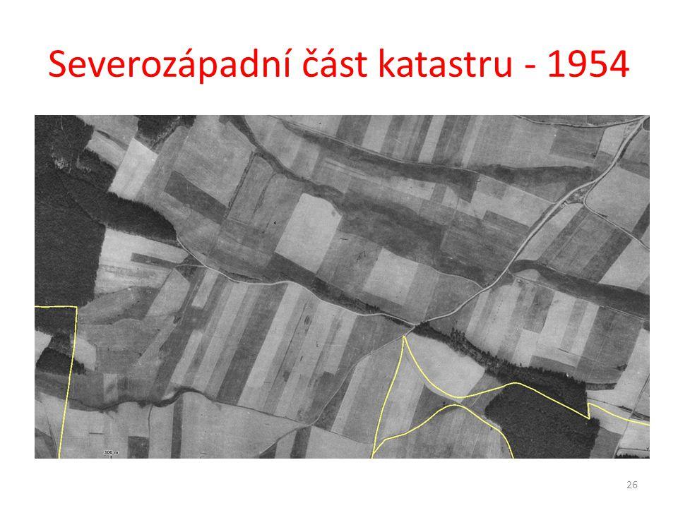 Severozápadní část katastru - 1954 26