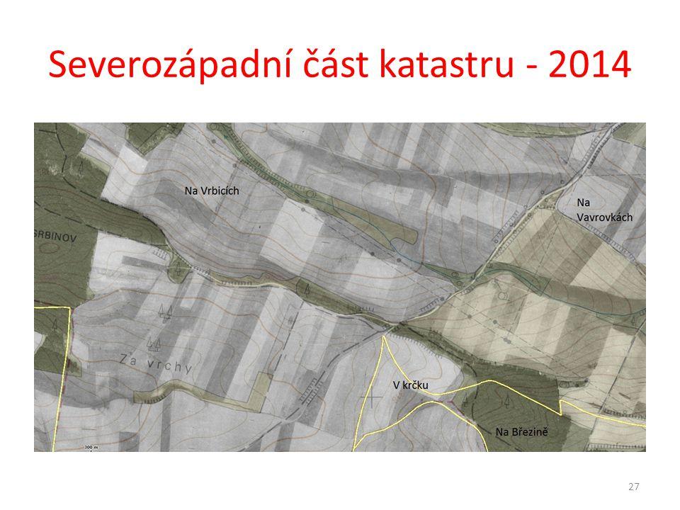 Severozápadní část katastru - 2014 27