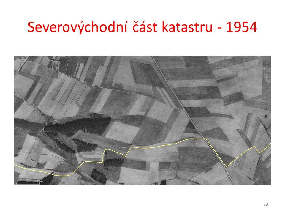 Severovýchodní část katastru - 1954 28