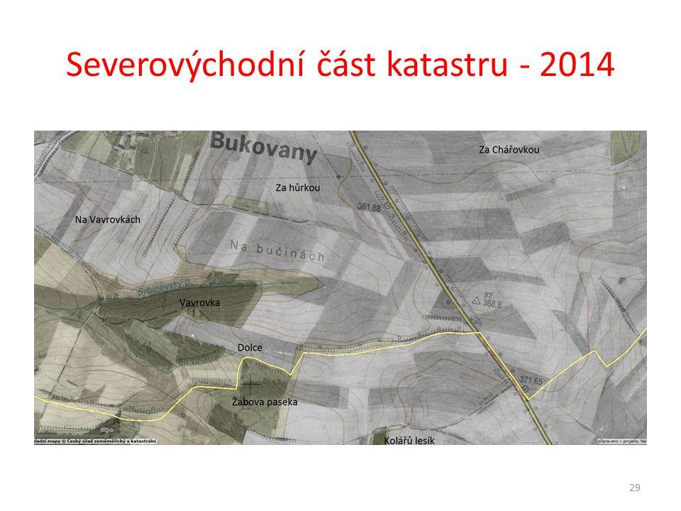 Severovýchodní část katastru - 2014 29