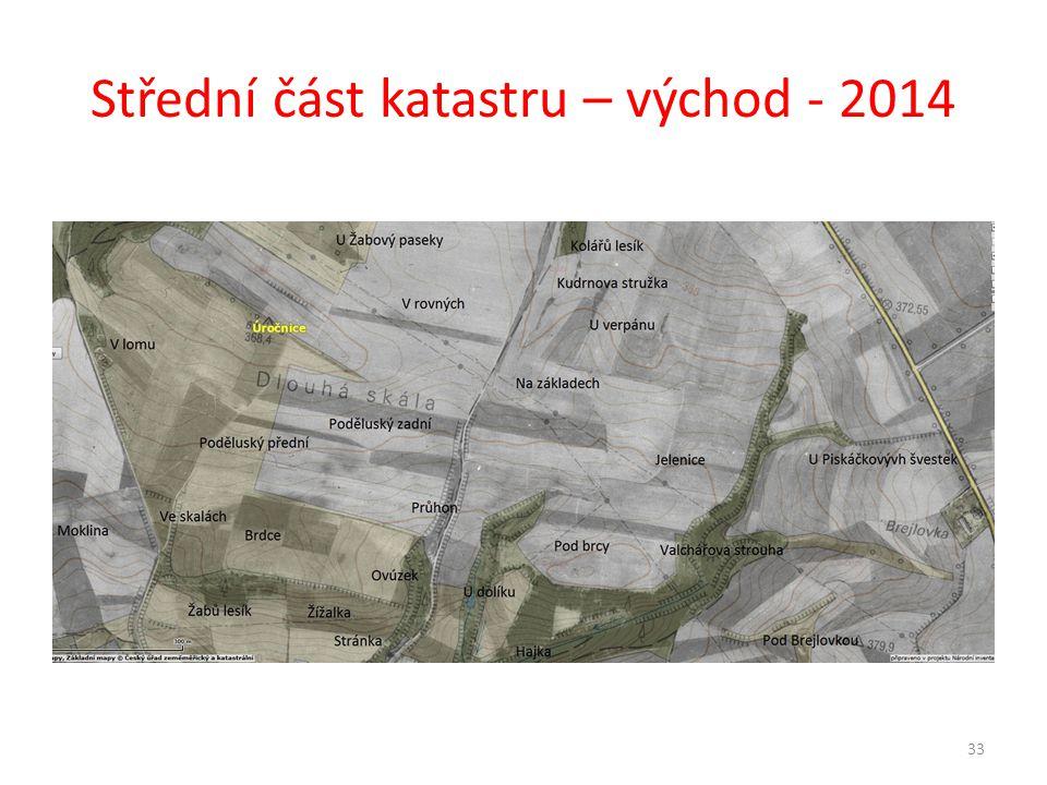 Střední část katastru – východ - 2014 33