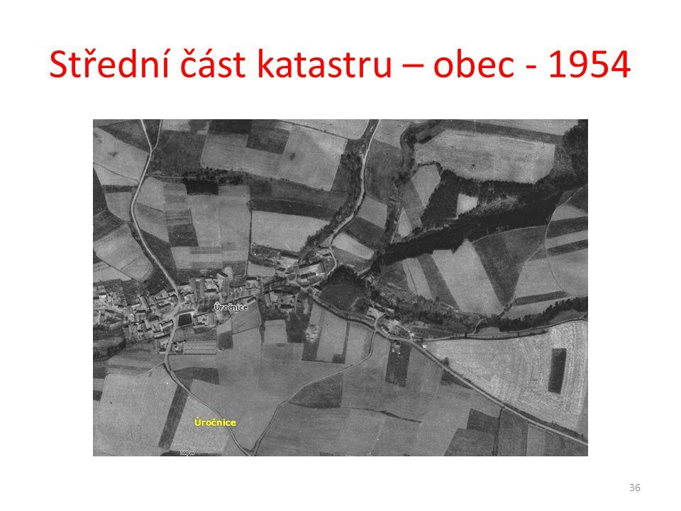 Střední část katastru – obec - 1954 36