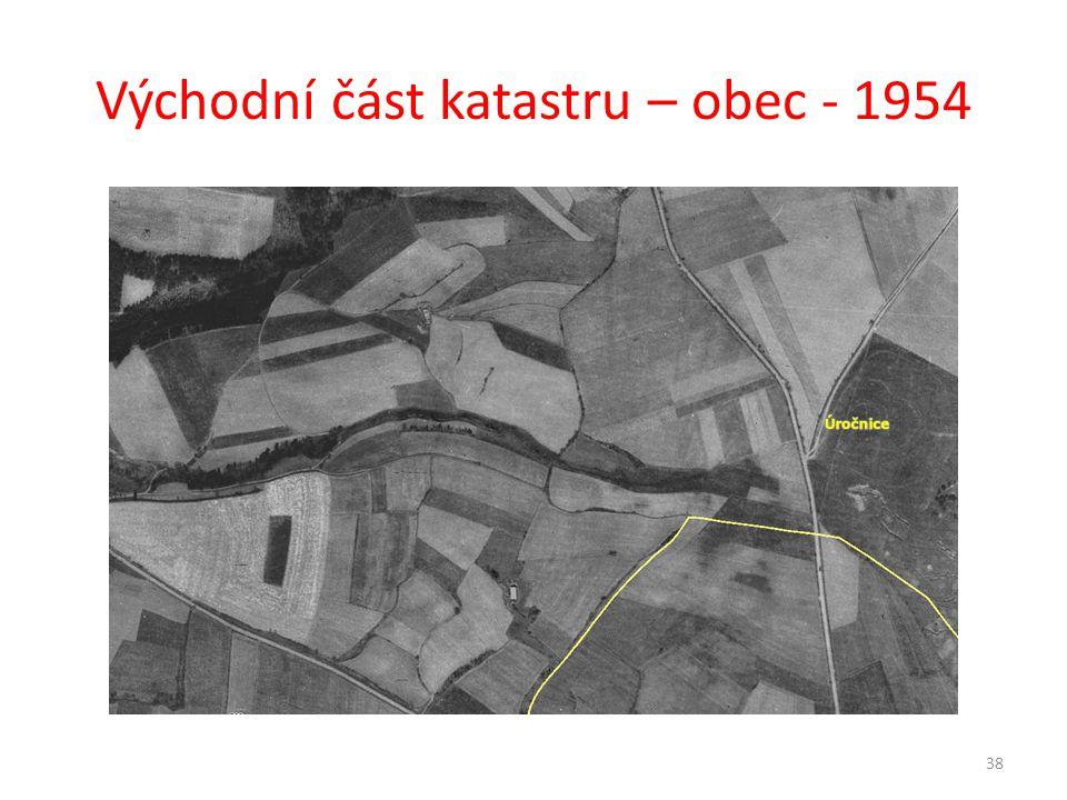 Východní část katastru – obec - 1954 38