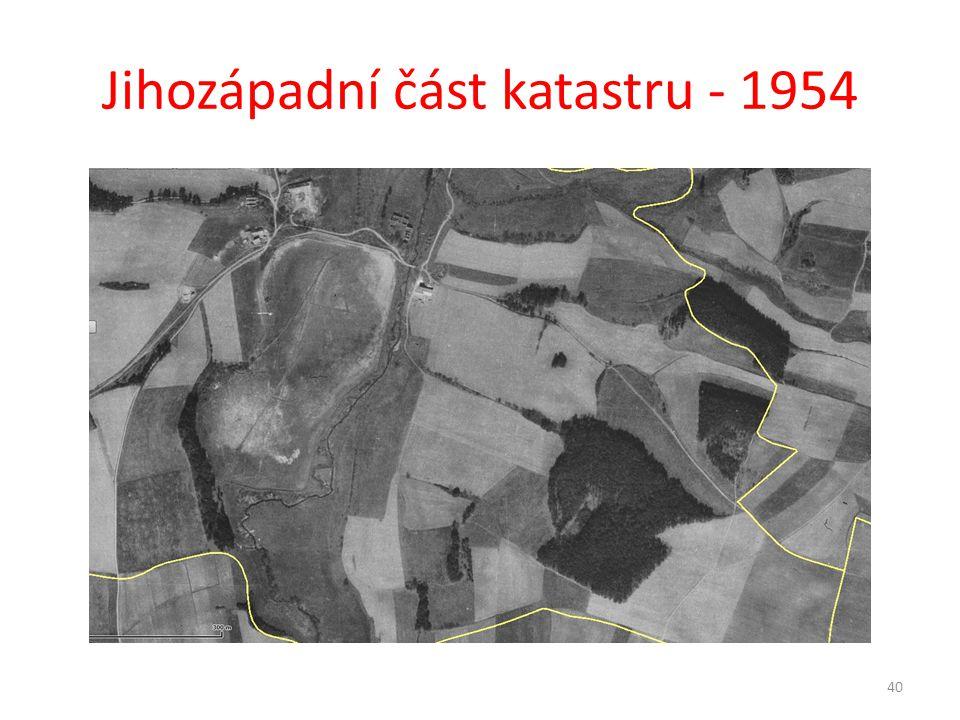 Jihozápadní část katastru - 1954 40