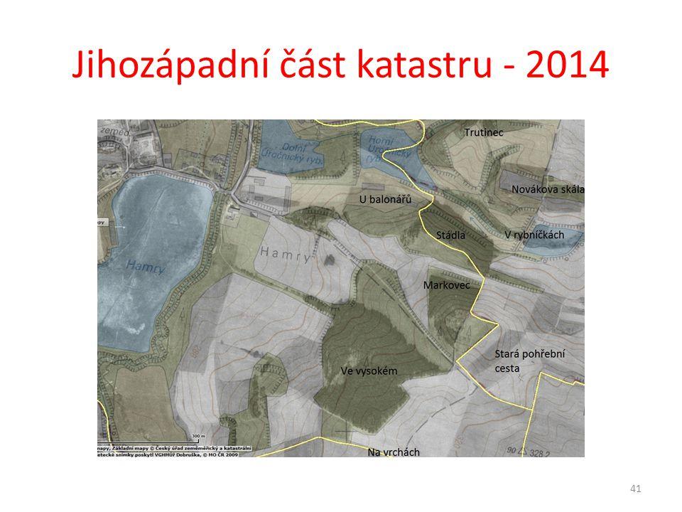 Jihozápadní část katastru - 2014 41