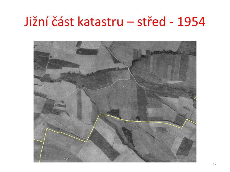 Jižní část katastru – střed - 1954 42