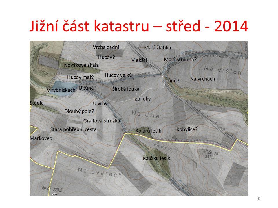 Jižní část katastru – střed - 2014 43