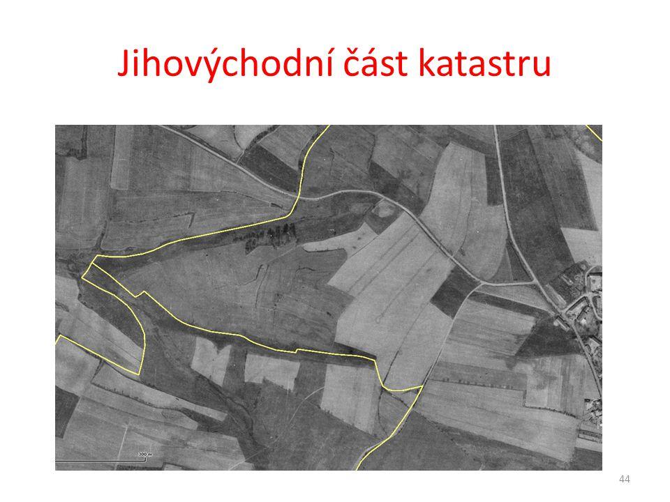 Jihovýchodní část katastru 44