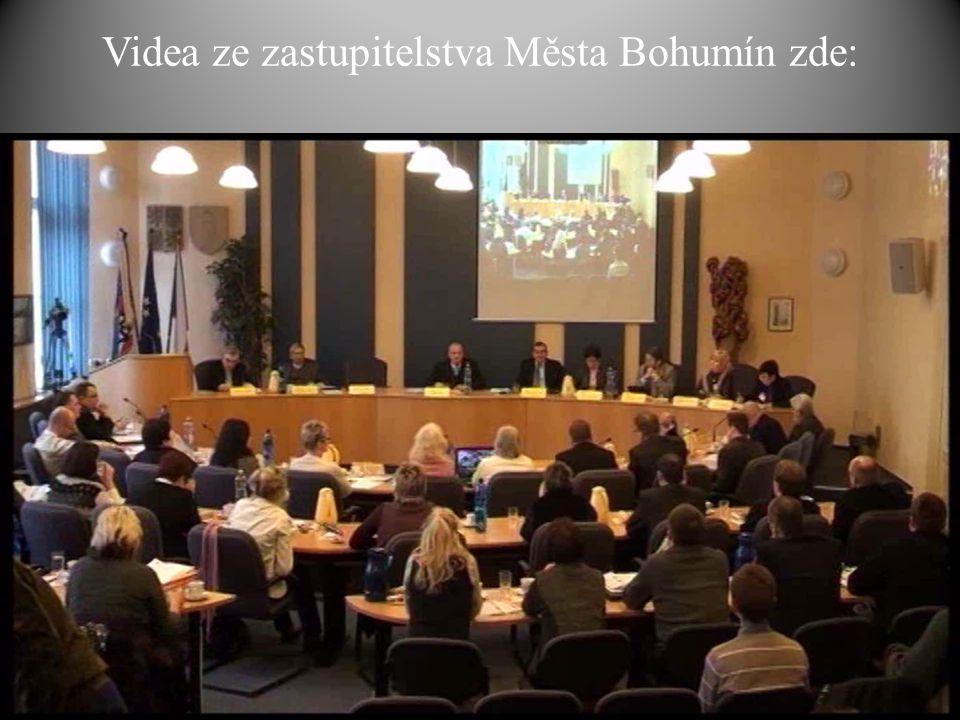 Videa ze zastupitelstva Města Bohumín zde: