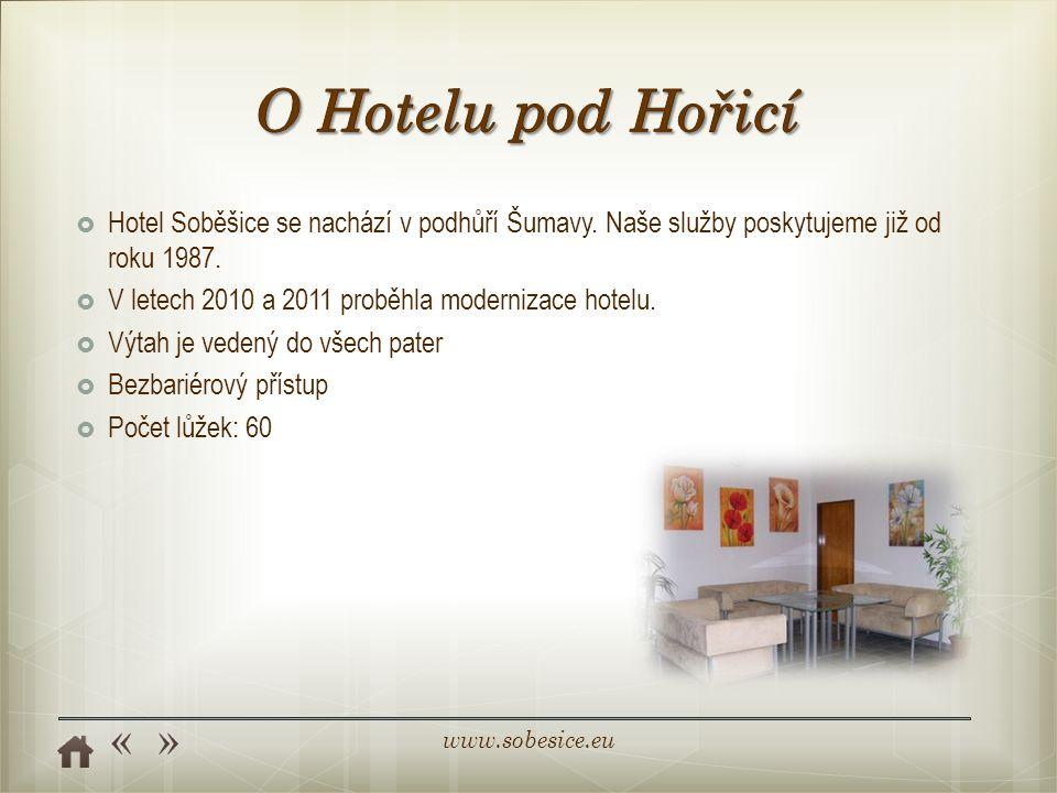 www.sobesice.eu  Hotel Soběšice se nachází v podhůří Šumavy.