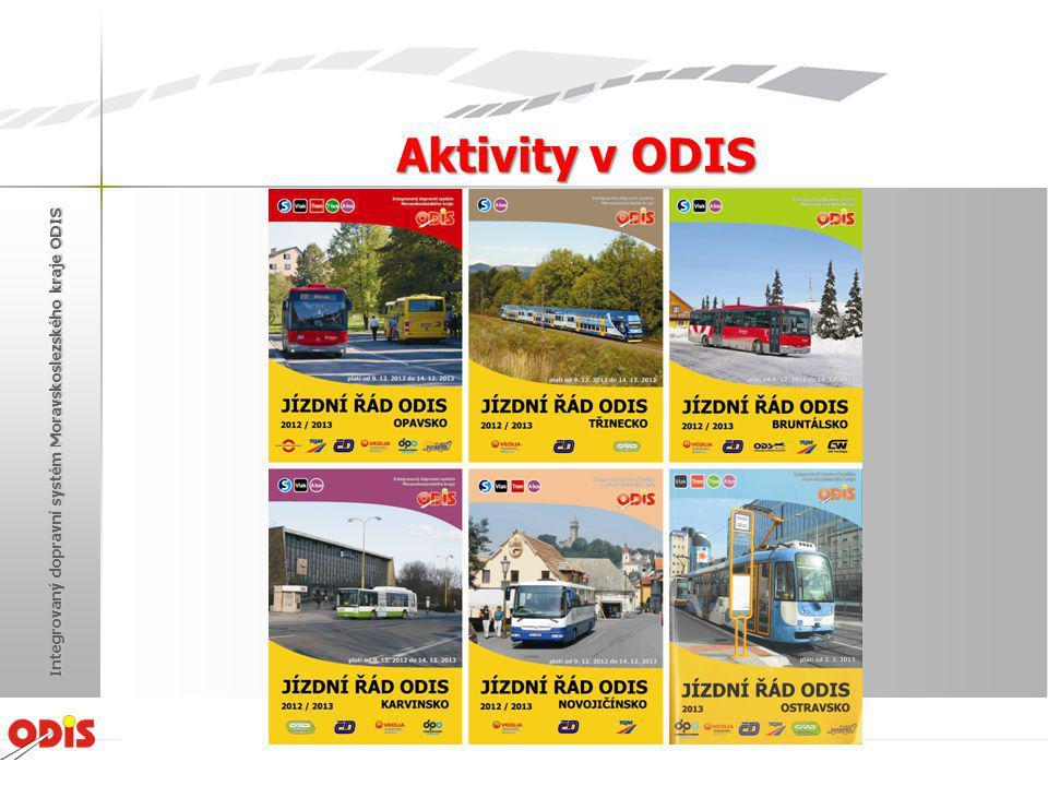 Aktivity v ODIS Žďár nad Sázavou 2013 Integrovaný dopravní systém Moravskoslezského kraje ODIS